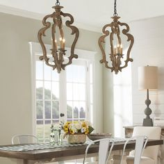 French Country Lighting, French Country Chandelier, Modern French Country, French Country Kitchens, French Country Living Room, French Country Farmhouse, Country Dining Rooms, Rustic Chandelier, French Country Decorating