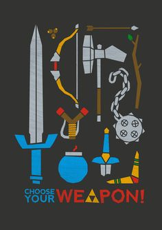 Choose your weapon! by John Tibbott Legend of Zelda -- I will always be a fan of the shovel. ^_^'