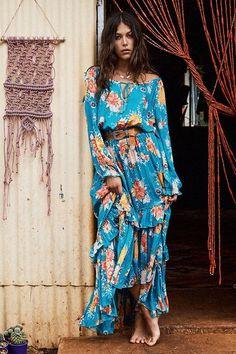 Beautiful Maxi Dresses: Bohemian Blues & Greens