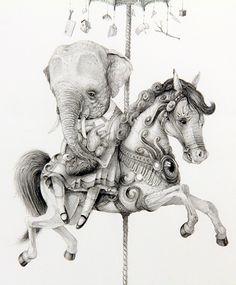 Illustration by Mark James Porter Art Et Illustration, Illustrations, Tinta China, Unicorn Art, Ink Pen Drawings, Art World, Art Inspo, Giclee Print, Cool Art