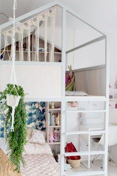 27 Deco Kids, Kids Bunk Beds, Loft Beds, Kids Room Design, Little Girl Rooms, Dream Rooms, Dream Bedroom, Girls Bedroom, Teen Bedrooms