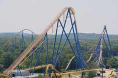 Nitro, Six Flags Great Adventure, NJ. First time I rode it I screamed like a bloody maniac on the first drop.