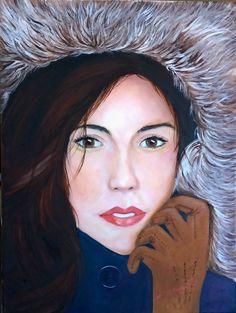 Mireya Maggiolo Retrato jovencita (hija de Mireya) óleo