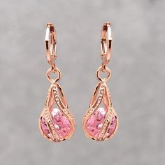 Crystal Pierced Drop Earrings – uShopnow store