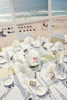 Table setup at Grand Plaza Hotel St.Pete Beach. Beautiful view.