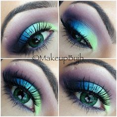 A gorgeous blue and green eye makeup look! Click for a list of all the products used in this look! :)