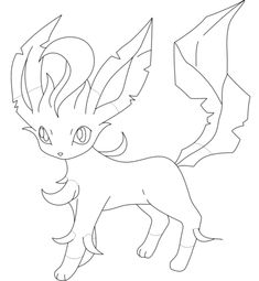 leafeon coloring page free printable coloring pages