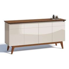 Sideboard Furniture, Modern Furniture, Furniture Design, Muebles Living, Off White, Living Room Decor, Sweet Home, New Homes, Cabinet