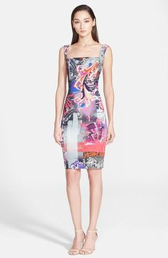 Versace+Collection+Graffiti+Print+Sleeveless+Dress+available+at+#Nordstrom