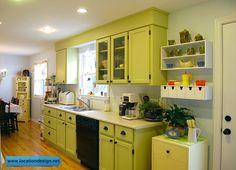 مطابخ مودرن باللون الأخضر