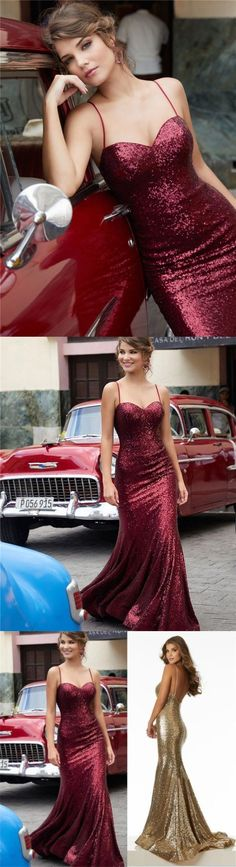 Charming Red Gold Black Sequin Sparkly Prom Dresses, Party Formal Fashion Dresses , Evening Dresses M1764#prom #promdress #promdresses #longpromdress #2018newfashion #newstyle #promgown #promgowns #formaldress #eveningdress #eveninggown #2019newpromdress #partydress #meetbeauty #mermaid #red #spaghettistrap #sequin #gold #backless