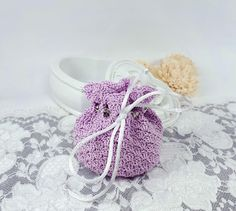 by Rocreanique on Etsy Wedding Favor Bags, Wedding Gifts, Fabric Gift Bags, Crochet Fabric, Coin Bag, Small Gifts, Pouches, Handmade Jewelry, Group