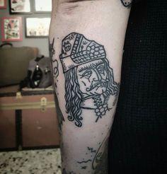 Vlad Tepes Dracula Tattoo Handpoked