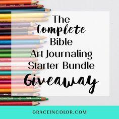Complete Bible Art Journaling Starter Bundle Giveaway