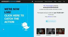HCL Technologies Launches #CoolestInterviewEver, World's First Twitter Recruitment Campaign