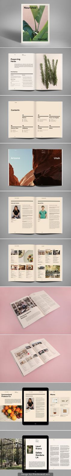 Nourished Journal: Layout Design | Publication and Print Design