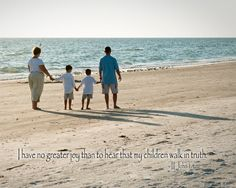 Family beach picture - scripture