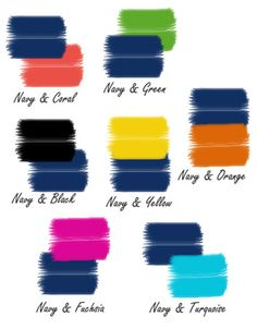 Navy combinations for fashion or home