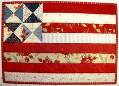 cute flag quilt...and it looks pretty easy to make