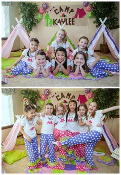Glamping Party Lounge Wear and Pajama party