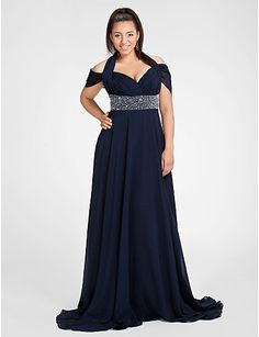 Feel comfortable and look gorgeous with this column silhouette dress! Its off-shoulder component plus its fine beading embellishments at the waist will make you look spectacular in a special evening! This model is also available in 25 colors! Click to see more details!
