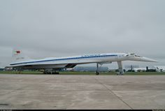 Tupolev Tu-144 (NATO reporting name: Charger) - Soviet supersonic airliner, designed by Tupolev Design Bureau in 1960. The world's first supersonic airliner, which was used for commercial airline traffic.