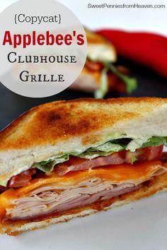 Copycat Applebee's Clubhouse Grille Sandwich Recipe.