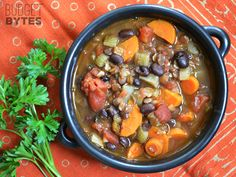 This Chunky Lentil and Vegetable Soup is packed with hearty flavor, texture, and good-for-you vegetables! Step by step photos.