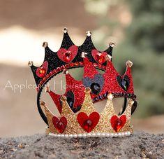 Queen of hearts crown queen of hearts costume alice in wonderland queen of hearts tiara queen of hearts headbands queen of hearts Crown Headband, Wedding Headband, Tulle Headband, Make A Crown, The Crown, Diy And Crafts, Crafts For Kids, Queen Of Hearts Costume, Queen Costume