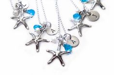Possible Bridal Party Gift - Starfish Initial Necklace