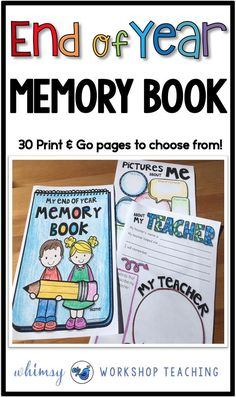 A year end memory book is the perfect way to end the school year. This book has 30 different pages to choose from with lots of unique ideas (free sample downloads in the preview)