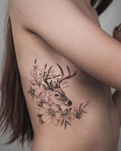 And the other deer from the Sister tattoos! Damn look at all the animals Iv been doing lately! Deer Skull Tattoos, Cowgirl Tattoos, Stag Tattoo, Body Art Tattoos, Small Tattoos, Sleeve Tattoos, Deer Tattoo Girls, Deer Hunting Tattoos, Doe Tattoo