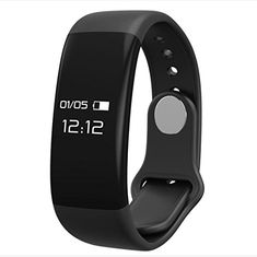 Fitness Tracker NLSD Bluetooth Bracelet Smart Wristband with Heart Rate Monitor Pedometer Sleep Monitor Tracking Calories burned Remote Camera For iOS  Android PhonesH6 Black * You can get more details by clicking on the image.