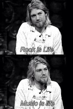 Kurt Cobain talking about music.