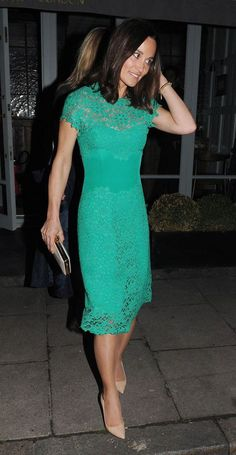 Pippa in green lace