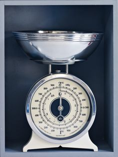 Cast Iron and Chrome Kitchen Scales