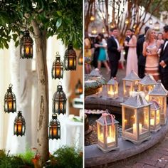 13 Unique Ways to Decorate With Lanterns at Your Fall Wedding via Brit   Co