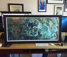 """Check out this monster at @ccadedu's Art Fair this Saturday from 9am to 2pm. For scale that's a 27"""" iMac to the right. #art #prints #legendofzelda #illustrator #illustration #illustratorsoninstagram #schmandrewart #art #artist #artistsoninstagram #ganon #ganondorf #link #wolflink #twilightprincess"""