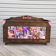 DIY Vintage Wood toy box makeover by Blocks From The Heart