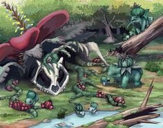 Pokemon: Land of Bulbasaur Pokemon Fan Art, Pokemon Funny, All Pokemon, Pokemon Stuff, Pokemon Venusaur, Charizard, Manga, Pikachu, Pokemon Pictures