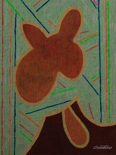 KORZH Taras, bush, 2015, canvas on board, acrylic, 51 x 38
