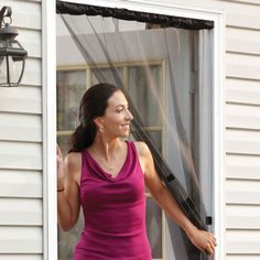 Let the fresh air in! Great for anywhere you need a screen door. Doorway Screen Curtain