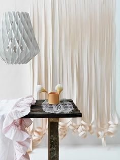 "paper curtain... Tweak it a bit and would make a great way for the little one to make an ""entrance"""