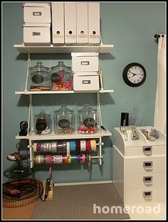 Need to add this type of shelving to my sewing room.