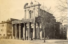 Temple of Antoninus and Faustina 1875