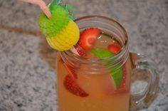 Pink Julep: Strawberry Rum Punch With Parrot Bay Strawberry Spirit Drink