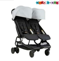 Buy Mountain Buggy Nano Duo Pushchair, Black from our Pushchairs & Prams range at John Lewis & Partners. Best Double Stroller, Double Strollers, Baby Strollers, Side By Side Stroller, Mountain Buggy, Sun Canopy, Adjustable Legs, Store Design, Baby Gear
