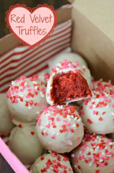 Red velvet truffles... cute and delicious!