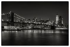 Brooklyn Bridge by Robert Fawcett Sistema Solar, Monuments, New York Night, New York Black And White, Black White, Black And White Wallpaper, Free Desktop Wallpaper, Desktop Backgrounds, High Resolution Wallpapers