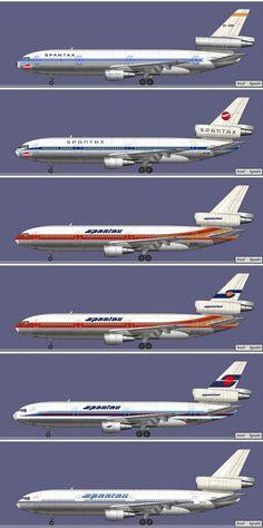 EC-DEG (curiosidades: 1º DC 10 de Spantax, perdido en un accidente en Málaga al abortar el despegue) Número de Fabricación: 46962 Modelo: ...